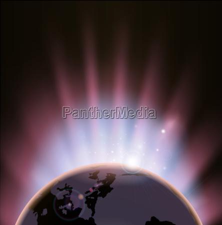 eclipse globe concept background