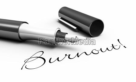 burnout stift konzept