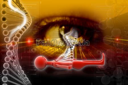 dna and eye
