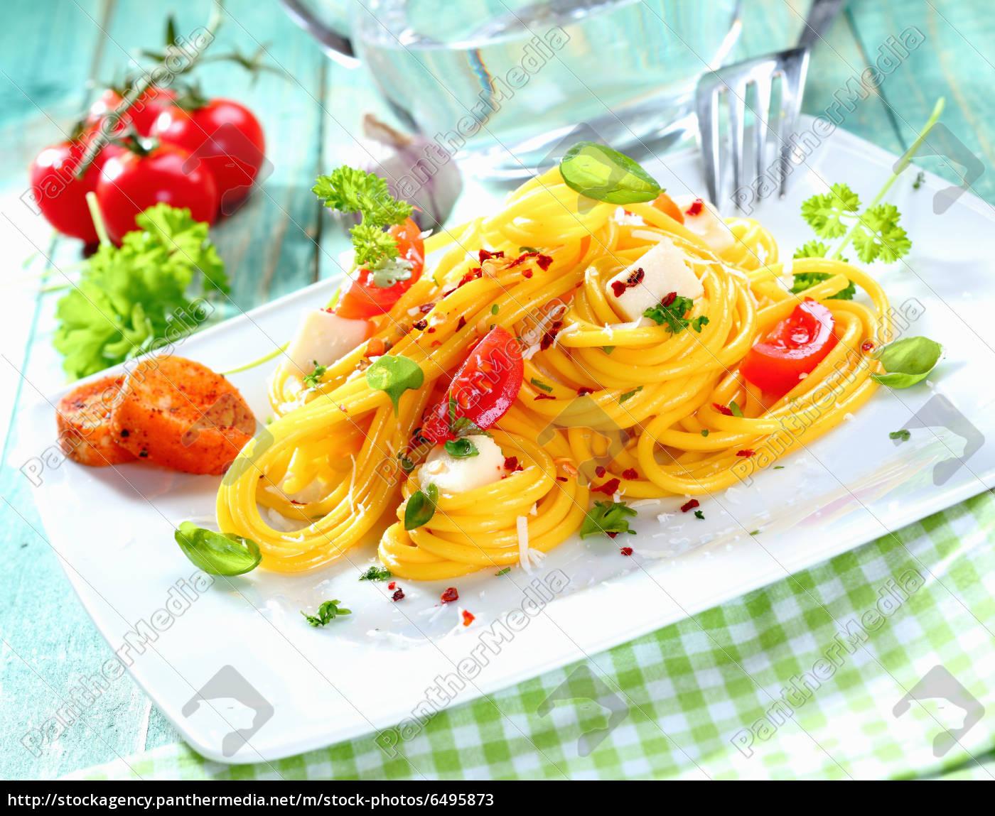frische, spaghetti, caprese - 6495873