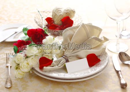 einstellung jahrestag oder valentine table