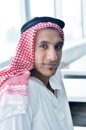 arab business man at bright office