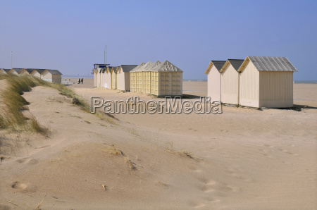 beach cabins on the dunes at