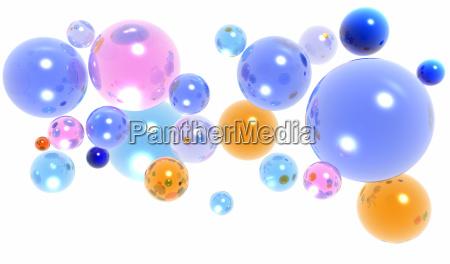 3d glaskugeln oder kugeln