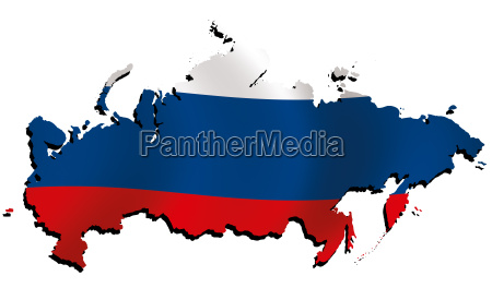 map russia with flag