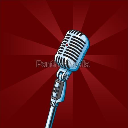 weinlese mikrofon