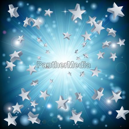 blue star explosion background