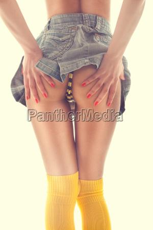 sexy bum in miniskirt