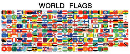 komplett set von flaggen