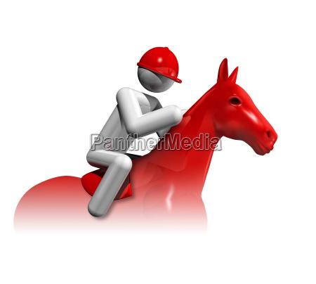 equestrian jumping 3d symbol