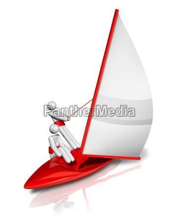 segeln 3d symbol