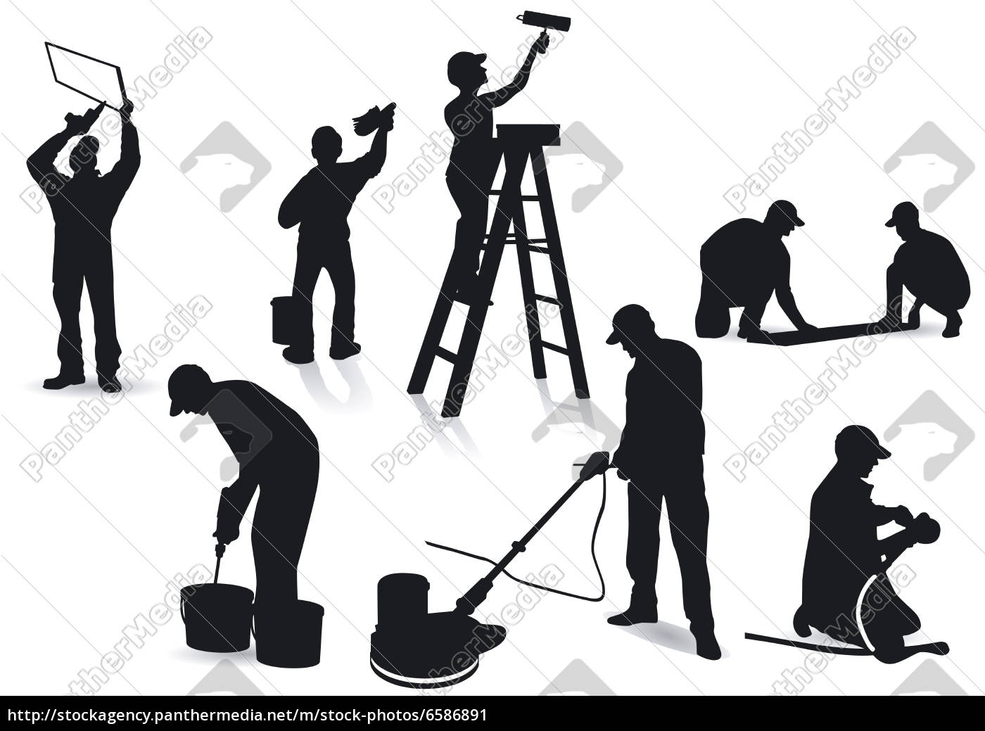 Handwerker zeichnung  Handwerker und Maler - Lizenzfreies Bild - #6586891 - Bildagentur ...