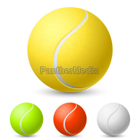 realistic tennis ball in different colors