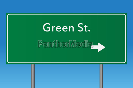 green concept road sign