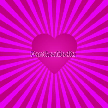 heart sunburst background