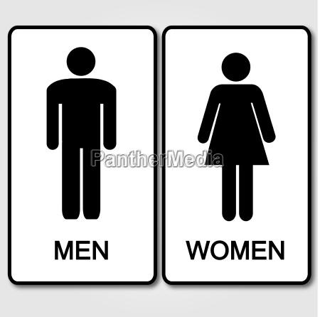restroom sign illustration
