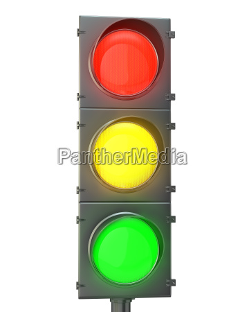 traffic light with red yellow and