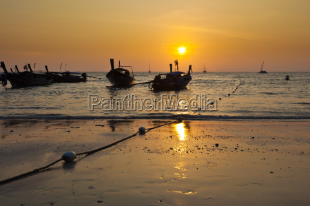 sunset at phranang beach