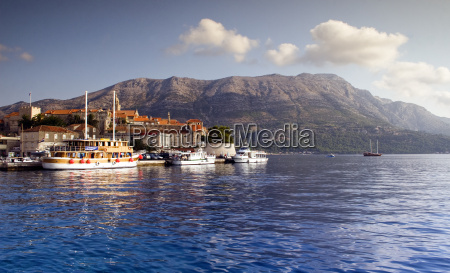dock on korcula island