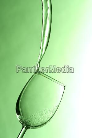 wineglass in backlight