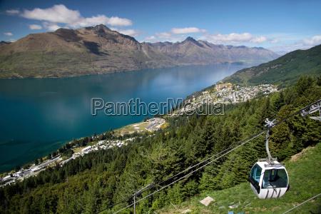 skyline gondola auf den bobs peak