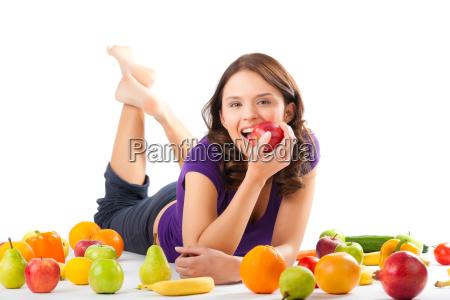 sund kost ung kvinde med