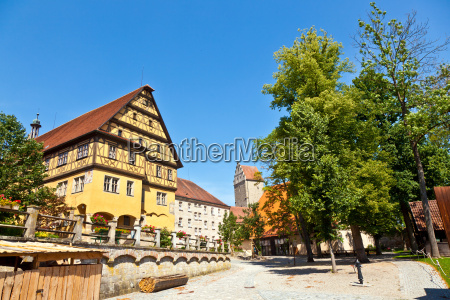 historic half timbered house in romantic