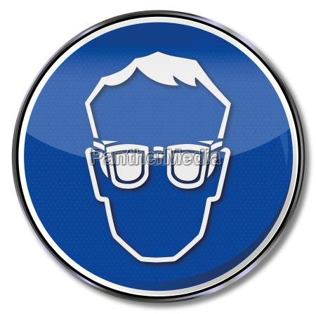 gebotszeichen schutzbrille