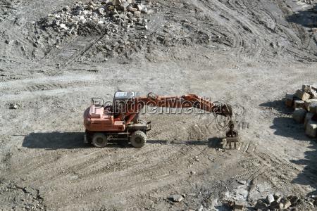 resting red quarry digger