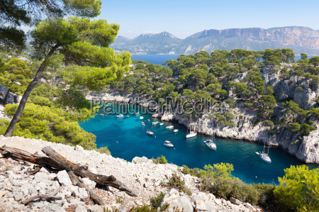 calanques von port pin in cassis