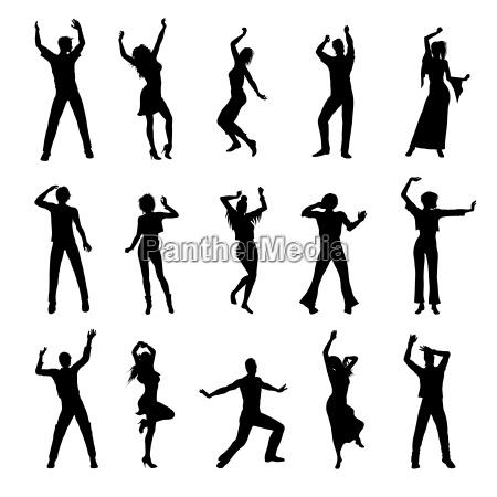 tanzende menschen silhouetten