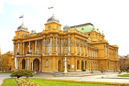 kroatische nationaltheater in zagreb
