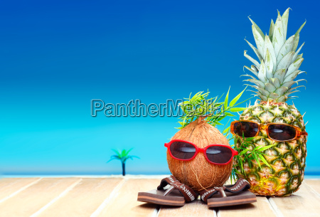 fruity friends in tropical paradise