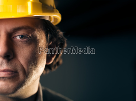 portrait of adult manual worker with