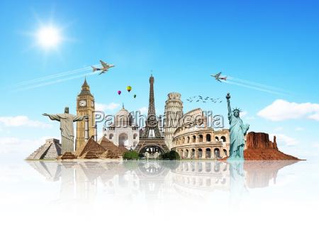 viaja por el concepto de monumentos