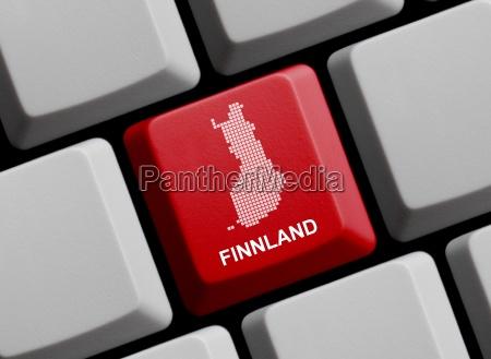 finnland umriss auf tastatur