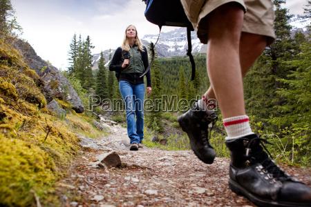 woman on mountain hike