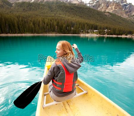 canoe woman detail