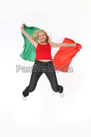 springender italien fan