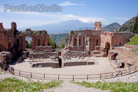 teatro greco in taormina und der