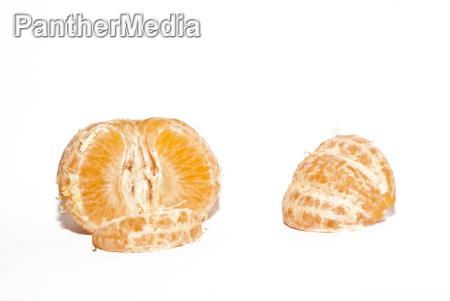 mandarine auf weiss