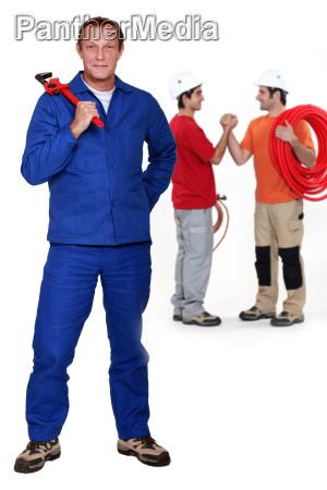 three plumbers