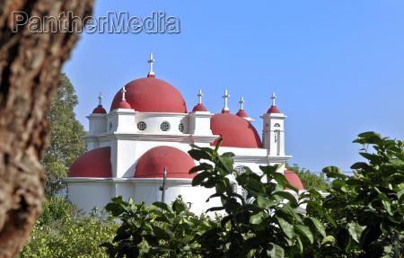 blau turm fahrt reisen religion kirche