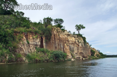 waterside victoria nile scenery in uganda