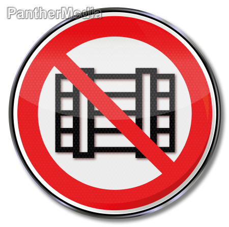 prohibition sign parking and storage