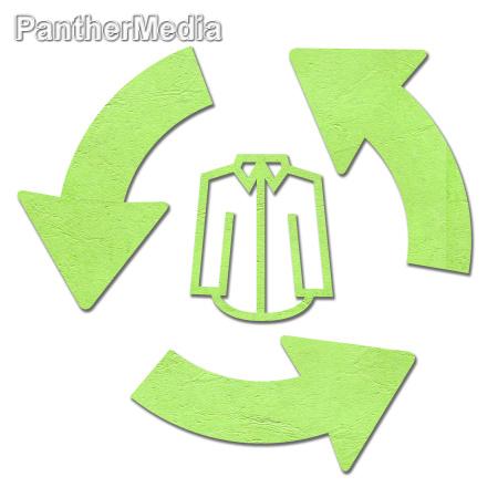 t shirt mit dem recycling symbol