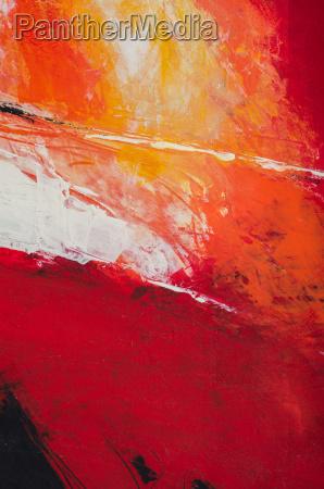 abstrakte malerei in rottoenen