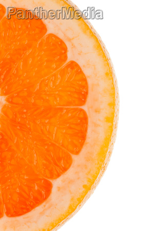 makroaufnahme einer halben orangenscheibe
