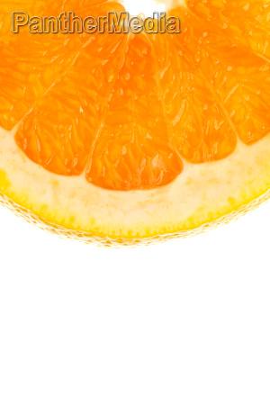 makroaufnahme einer viertel orangenscheibe