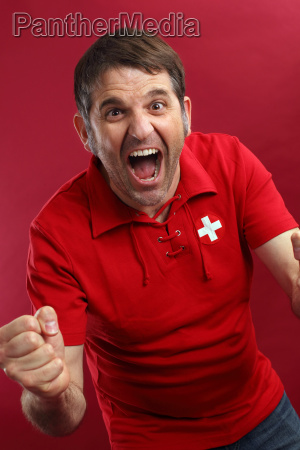 screaming swiss sports fan